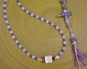 50 Bead Chotki, Prayer Rope, Komboskini, St. Pachomius, Jesus Prayer, Pale Pink