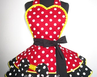 Minnie Mouse Inspired Apron