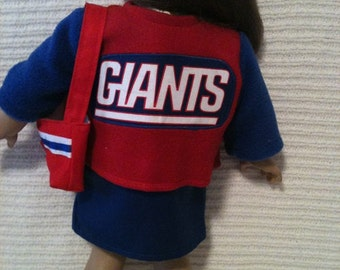 18 inch doll and 15 inch doll (modeled by American Girl)  Giants 4 piece set