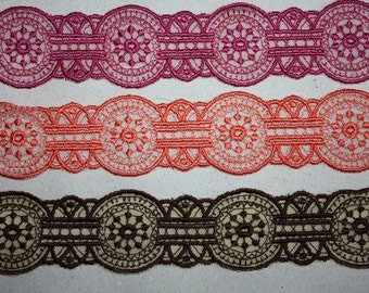 Beautiful embroidery Lace trim to altered your couture designs