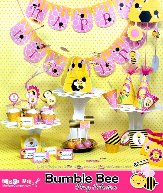 Bumble Bee Birthday Bumble bee baby shower Birthday Decorations