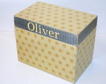 Recipe Box, 4x6 Wood Recipe Box, 4 x 6 Custom - You Design It, Handmade Personalized Recipe Box, Address File Wedding Guest Book Box