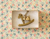 Pippa Antique Bronze Rocking Horse Pendant Necklace