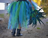Peacock Masquerade Bustle Style Tulle TUTU ONLY..... Girls, Teens, Adults Costume, Parties, Celebrations