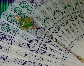 Pretty Vintage Italian Murano Glass Stickpin or Hatpin