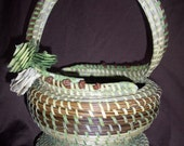 Sweetgrass Hourglass S-Handle Basket