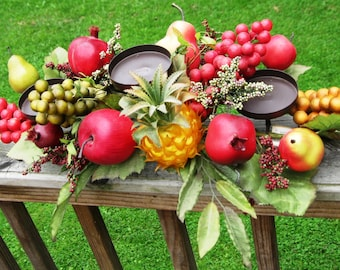 Vintage Fruit Centerpiece and Candle Holder