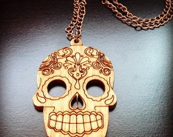 Mexican Sugar Skull Chain Necklace