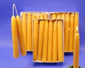 """Beeswax Candles, 25 Pair Of 3/4"""" x 6"""" Hand-Dipped Tapers, 50 Beeswax Tapers, Perfect Christmas Gift, Romantic Dinner Candles"""