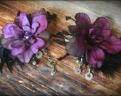 Hair Clip// purple, Black, Kuchi Jewelry, Tribal Belly Dance, Belly Dance