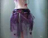 Custom Order for Danielle// Bustle Belt Skirt, Purple, Yarn, Fairy, Costume