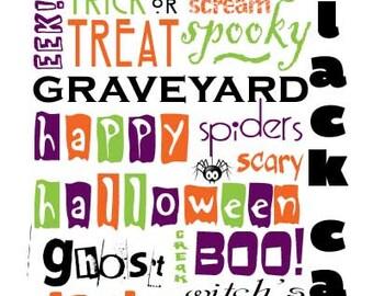 Halloween Subway Art INSTANT DOWNLOAD 8x10 / 16x20 Digital Printable JPEG File
