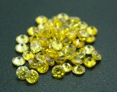 5mm Round CZ Yellow Cubic Zirconia Loose Stones Lot
