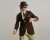 mens vintage sport jacket 70s velour sport coat 1970 chocolate brown jacket Lee 40 40R brown sport coat 70s menswear