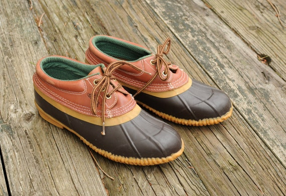 vintage 70s 80s BASS duck boots rain shoes by CarnivalOfTheManiac
