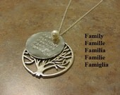 personalized necklace, tree of life necklace,tree necklace,tree of life jewelry,tree necklace, family necklace,long necklace,Jewish necklace