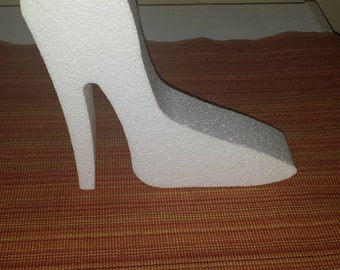 STYRofoam shoe shapes craft.  wedding.  anniversary Birthday   centerpiece