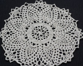 Ecru Crocheted Doily