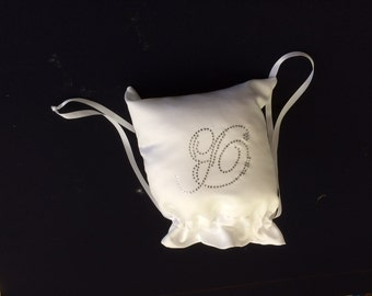 Custom Made Money Bag Dollar Dance For Bride with Script Monogram Initial