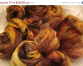 SAFF SALE Soft Warm Clouds of Spinning Fiber 4.1 OZ Merino, Silk and Angelina and More Fireside