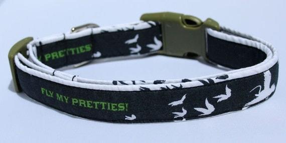 Flying Monkeys Dog Collar Size XS S M & L by xfauxpawsx on Etsy
