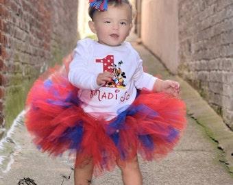 Red and Blue Tutu,  Newborn Tutu, Baby Tutu, Tutus for children, Flower Girl tutu, 1st birthday tutus, birthday tutu, mommy and me tutus