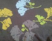 Ready-Made Crochet Afghan---------------- GINGKO LEAVES in Dark Brown
