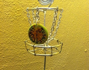Disc Golf Basket Personalized Orna-mental or Cake Topper Art Priority Mail Option