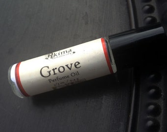 GROVE Premium Artisan Perfume Oil ~ bamboo, sassafrass, avocado ~ Free from alcohol, parabens, preservatives ~ gift or travel