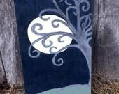 Folk Art Painting Winter Tree