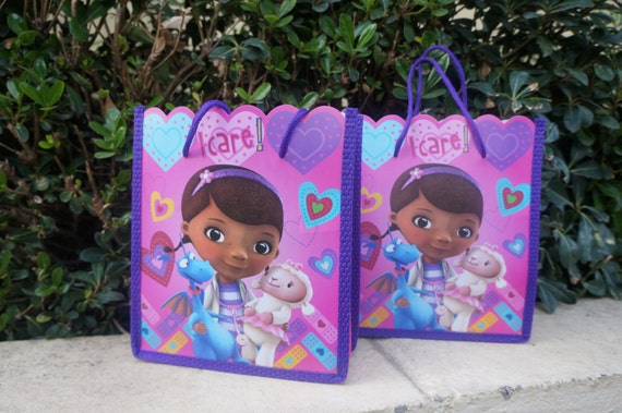 10 x Disney Doc McStuffins Birthday Party Favor goody Candy Filler bags