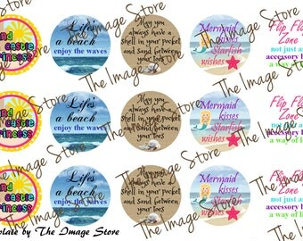 Beach Sayings Bottlecap image sheets