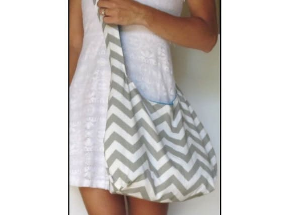 Cross Body Hobo Bag. Chevron Purse. OR Shoulder by SmiLeStyles