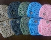 READY RUSH Baby Boy Girl Hat Set Diaper outfit Newborn Crochet Striped Baby Diaper Cover Set 0-3 3-6 Mos Infant Crochet Photo Prop Beanie