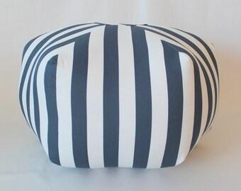 "24"" Ottoman Pouf Floor Pillow Canopy Stripe"