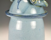 Sale Blue lidded jar  Item # 5