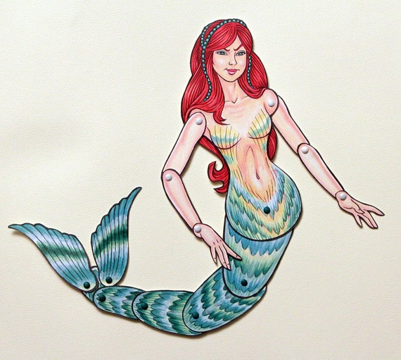 Mermaid Articulated Paper Doll