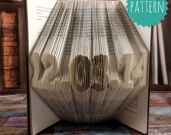 Fully Customizable Folded Book Art date Pattern & tutorial, wedding, birthday, home decoration