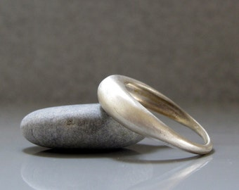 Minimalist silver ring made to order, Dome ring, Simple silver ring