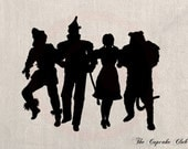 Custom Clip Art Design Transfer Digital File Vintage Download DIY Scrapbook Shabby Chic Silhouette Wizard of Oz Dorothy No. 0728