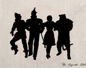 Custom Clip Art Design Transfer Digital File Vintage Download DIY Scrapbook Shabby Chic Silhouette Wizard of Oz Dorothy No. 0728