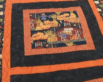 Fall Leaves and Scarecrow Wall Hanging/Reversible to Halloween