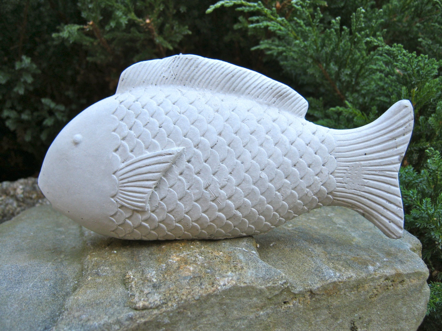 Fish statue concrete garden figure concrete fish cement for Fish garden statue