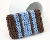 DIGITAL PATTERN:Knit Scrubbie PATTERN, Scrubbie Sponge, Knit Dishcloth Pattern, Knitted Cotton Dishcloth, Dish Cloth Pattern, Blue Scrubbie