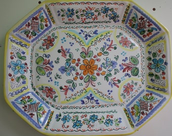Octagonal Platter Hand crafted in Sunny Spain by Cosas de Europa Etsy