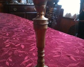 Solid Brass Tall Antique Candlestick Hand Forged