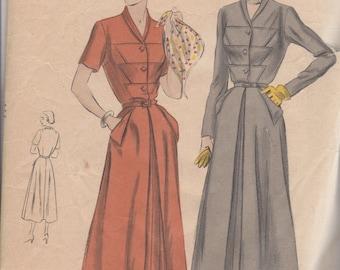 RARE 1950's Misses' Dress Vogue 6748 Size 16 Bust 34 Hip 37