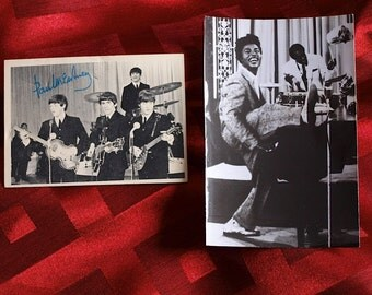 Beatles and Little Richard Two Items Beatles Card #62 and Little Richard Photo Original Published 1960's