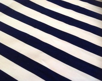 Navy and white stripe Cranston Print Works