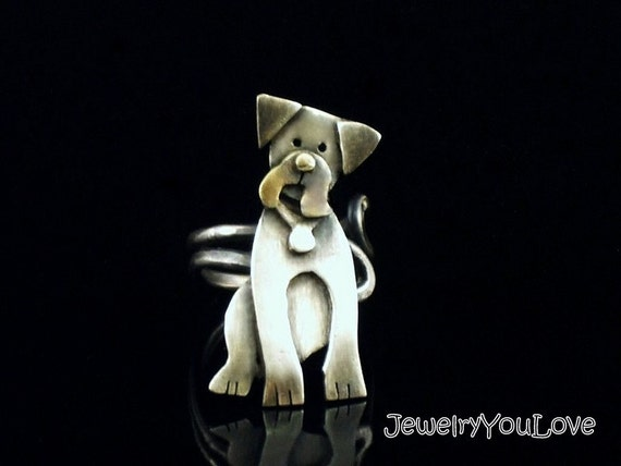 Sterling Silver Boxer Ring - Ruby